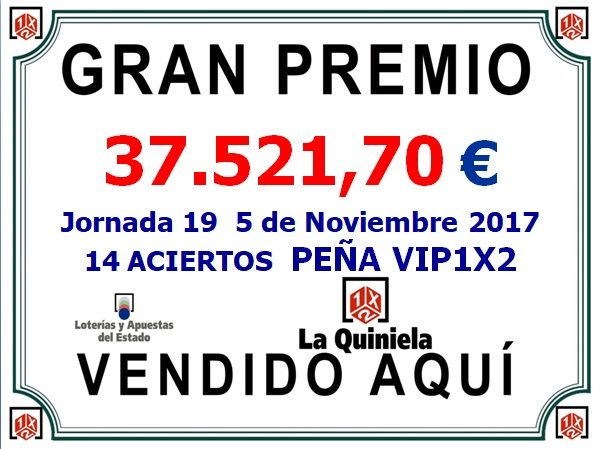 CARTEL PREMIOS PEÑA VIP1X2