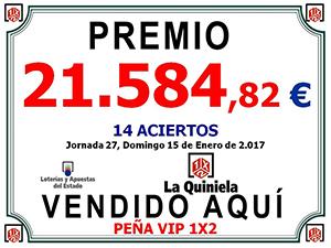Premio La Quiniela 15012017